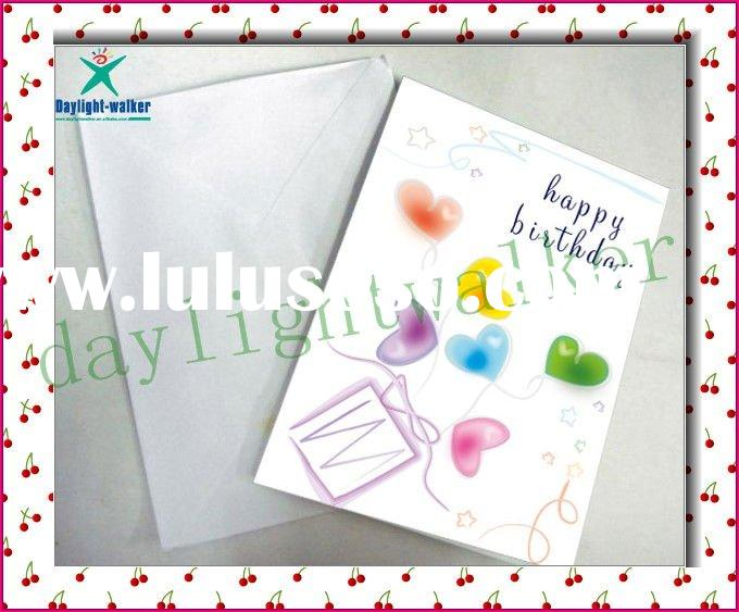2011 newest paper craft greeting card
