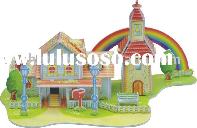 3D paper craft -Toy prototype- The rainbow room