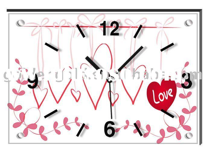 Art and craft clock--Frameless painting wall clock