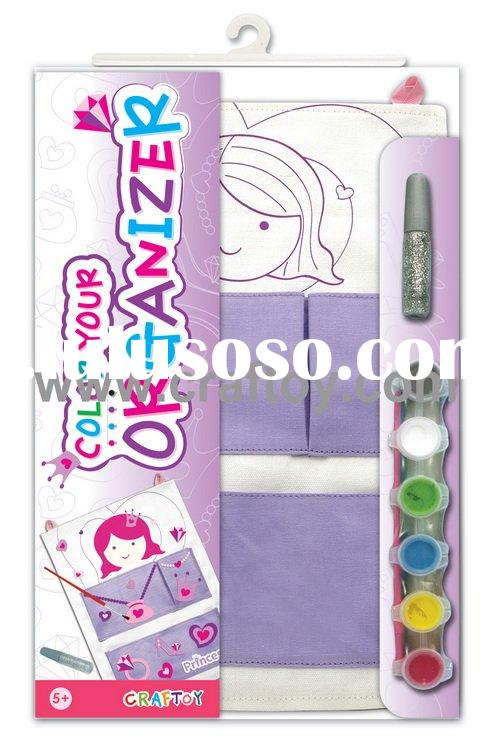Children drawing organizer, Art & craft, painting kit - Color your organizer - Princess