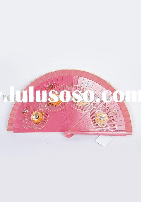 Craft Fan, Paper Fan, Bamboo Fan, Wooden Fan, Silk Fan Promotion Fan, Model: 32967
