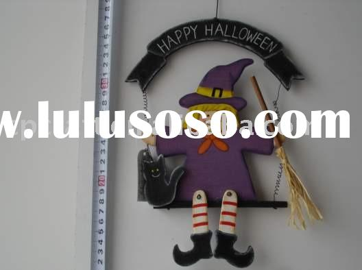 Craft witch halloween craft, wooden halloween hanger, Halloween ornament, wooden hallowmas craft, ha