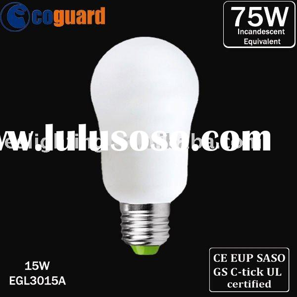 Energy Saving Lamp Low Mercury Classic A type CFL Bulb 15W with High Power Factor of 0.95 (EGL3015A)