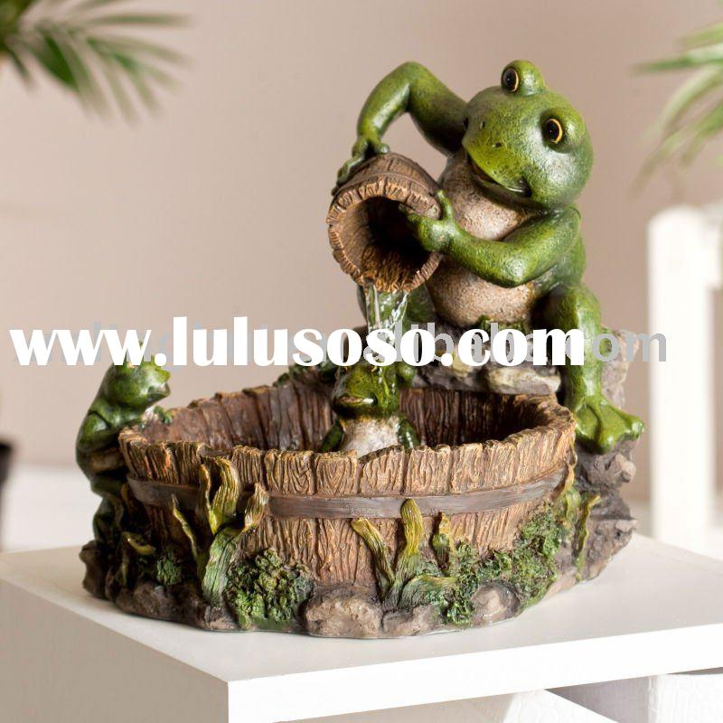 Family Frog Indoor traditional Resin Tabletop Fountain