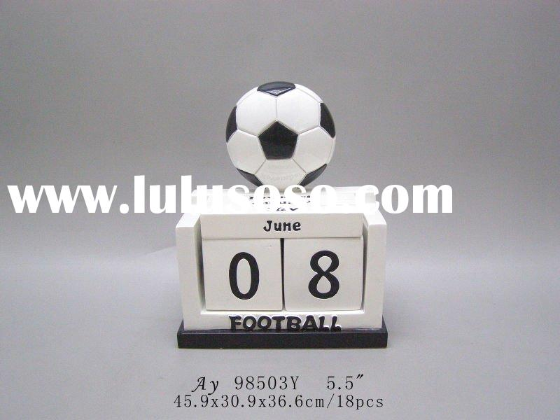 Supply 2010 football world cup promotion gifts(polyresin craft,money bank,key chain,pen holder,photo
