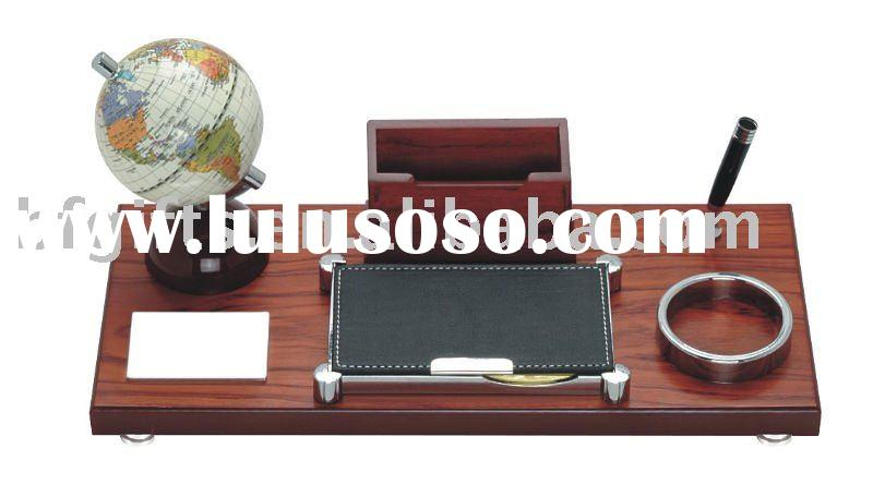 Wooden desktop set,pen stand,business card holder,notebook:BF10077