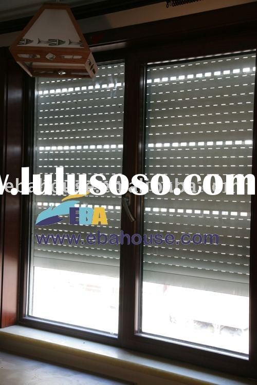 aluminum roller shutter window,aluminium window,rolling shutter,casement window,slid hung window