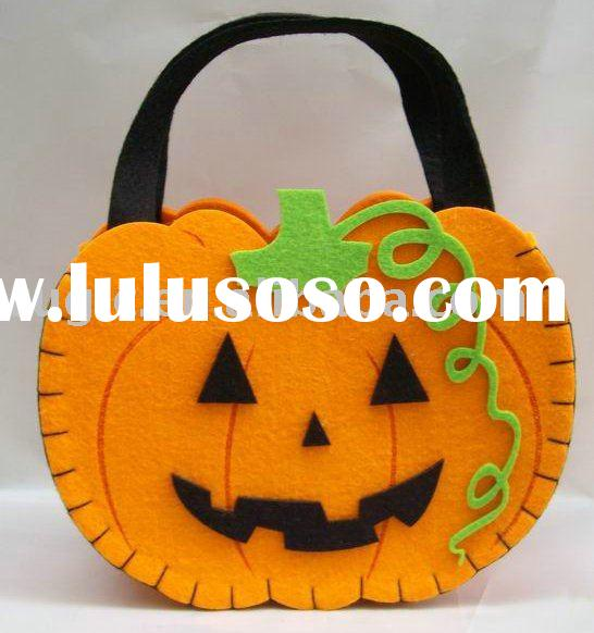 craft art Halloween decoration felt bag, art craft ornament non woven felt Halloween decoration bag,