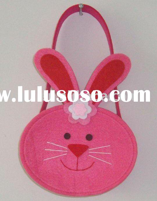 craft art easter spring decoration felt bag basket,art craft ornament non woven felt easter decorati
