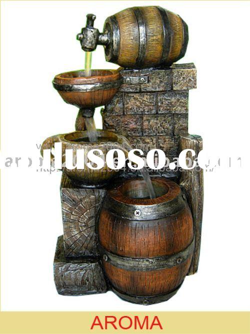 indoor tabletop fountains barrel home decoration