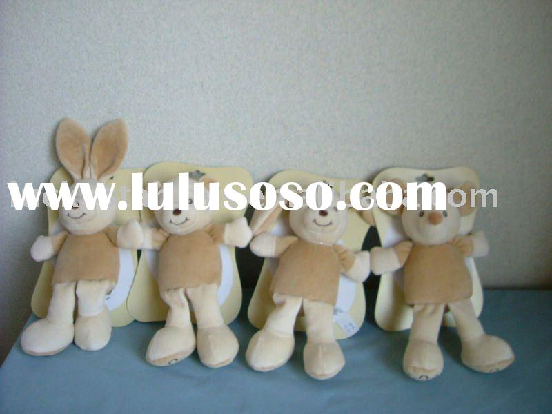 4 Assorted Plush Baby Toys