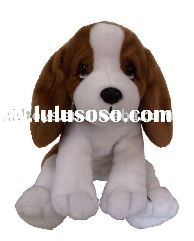 Cute sitting plush dog toy, stuffed animal