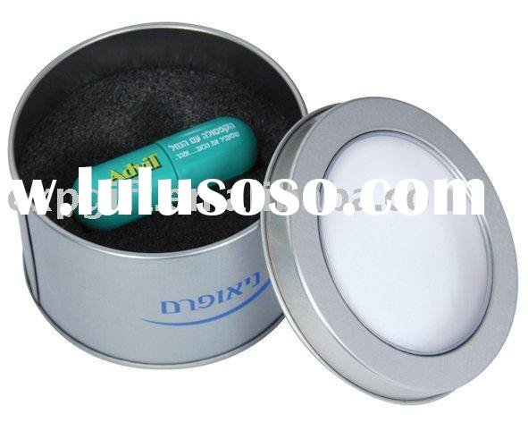 Round USB Tin with see-through lid