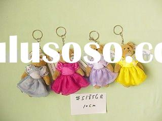 Teddy Bear Toys Mini Plush Teddy Bear Keychain with Skirt