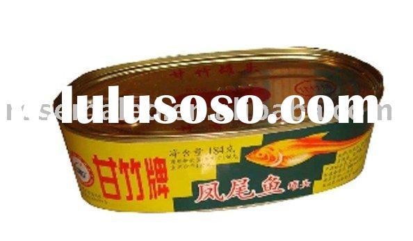 canned anchovy in fish can in China at a low price from factory