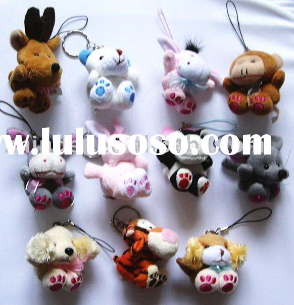 plush animals keychain, stuffed animals mobile phone pendant, plush animal ,plush animals keyring, s