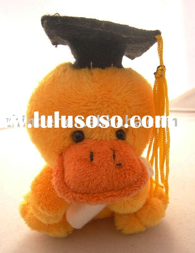 stuffed graduation duck, plush graduation duck, stuffed graduation animals, plush graduation animals