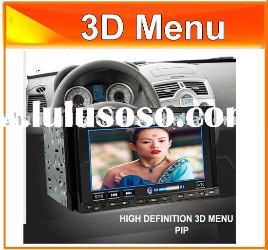 7'' Sony quality 2 din car dvd players with GPS/3D menu