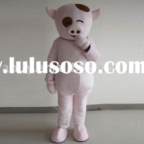 Cute pink cartoon pig mascot costume ball