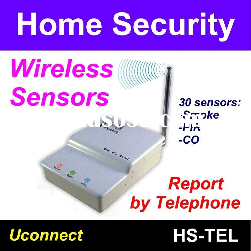 DIY Wireless Home security alarm system report by telephone