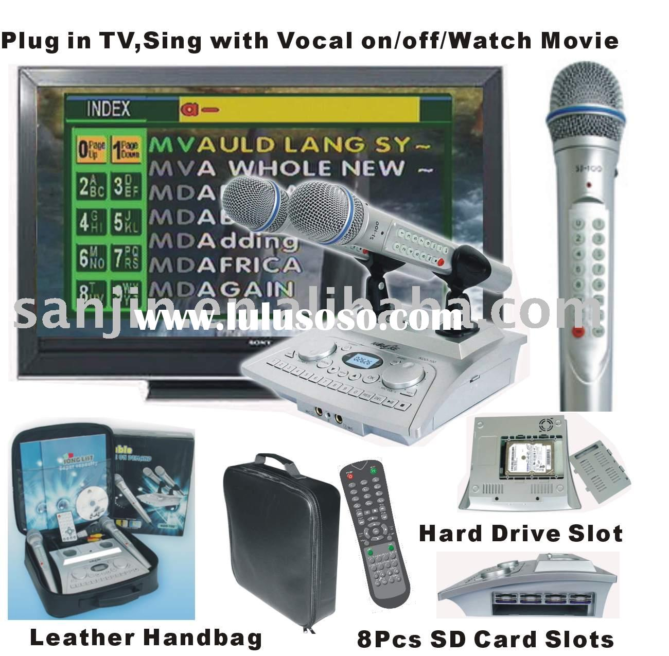 HDD player hard disk karaoke player+microphone player
