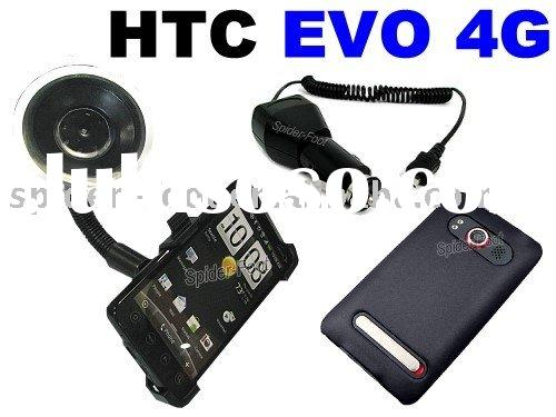 Holder+car charger+Back Cover for Sprint HTC EVO 4G