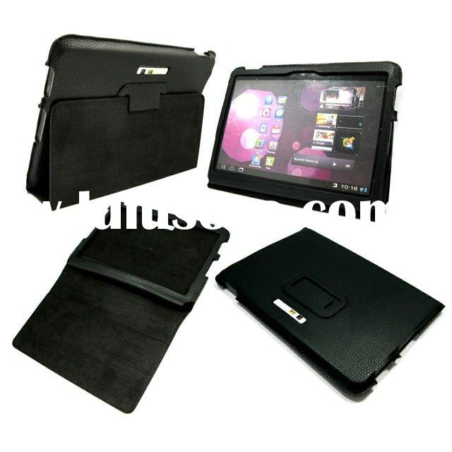 Mobile Phone leather case for Samsung Galaxy Tab 10.1 Tab II P7100 Black