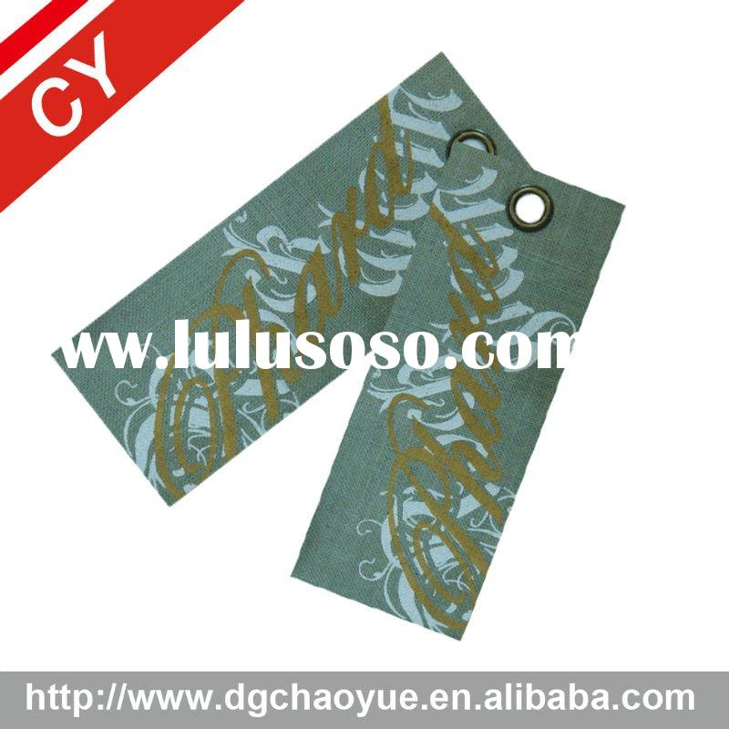 Printed cotton fabric garment label