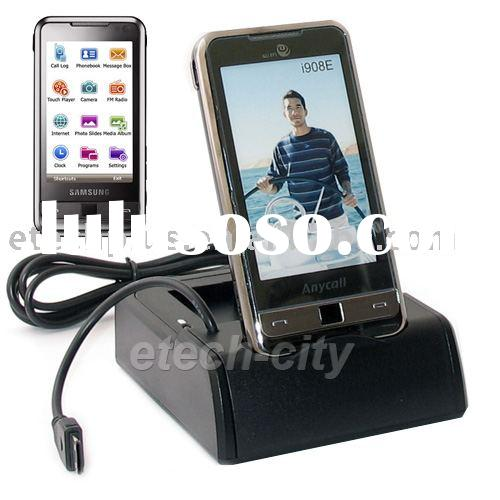 USB Cradle Dock Station with Battery Charger Slot for Samsung SGH-i900 Omnia i908