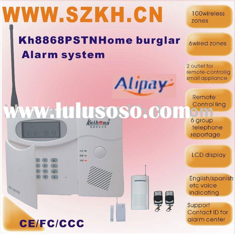 WIRELESS 100 ZONE AUTO-DIALER HOME SECURITY ALARM SYSTEM