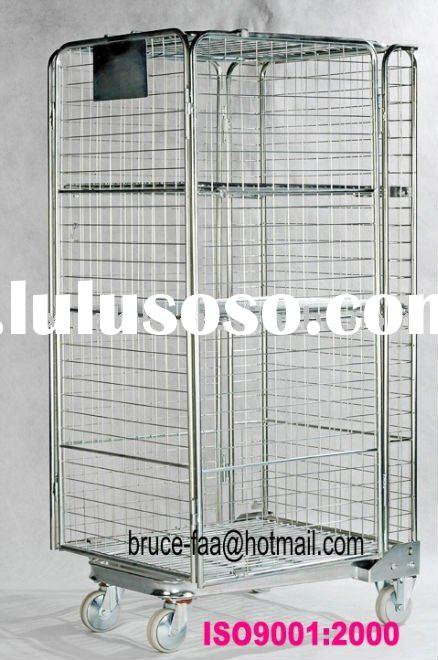 nesting roll trolley/warehouse mesh cage cart