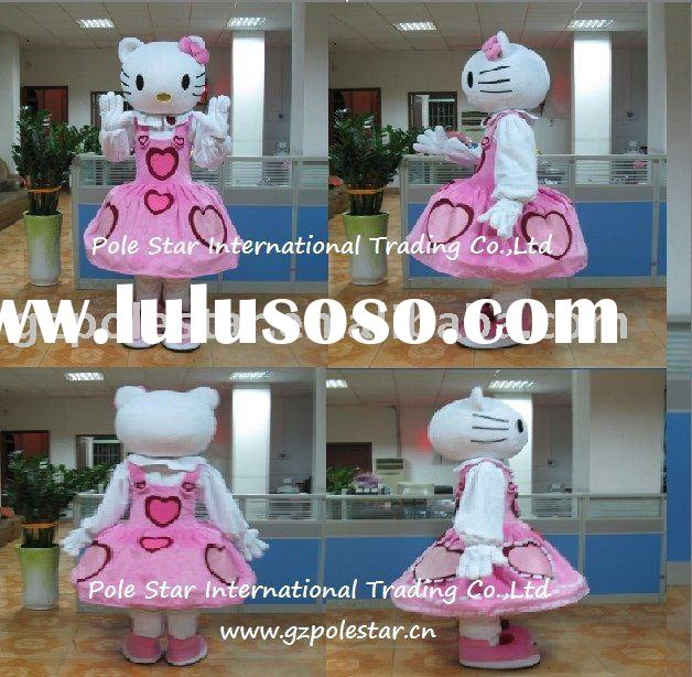 pink hello kitty mascot costume