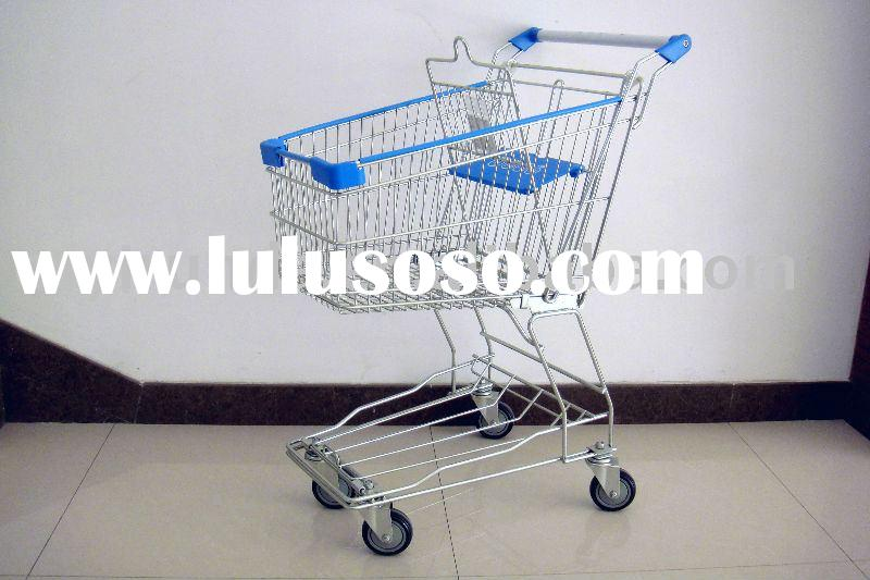 supermarket metal shopping cart/trolley