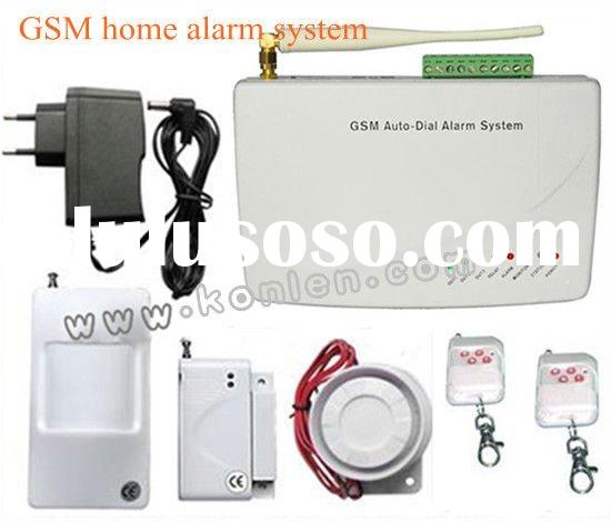wireless home alarm systems GSM with SMS and call alert,relay output,remote control