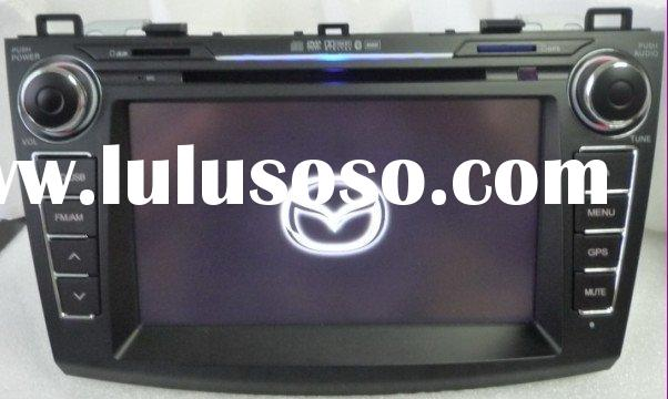 "8"" 2010 Mazda 3 Caska car dvd player with high resolution, with bluetooth, gps, 6 V-CDC, 2-zone"