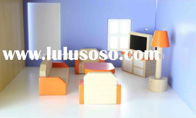 Doll House Furniture - Living Room - Mini Wooden Toy