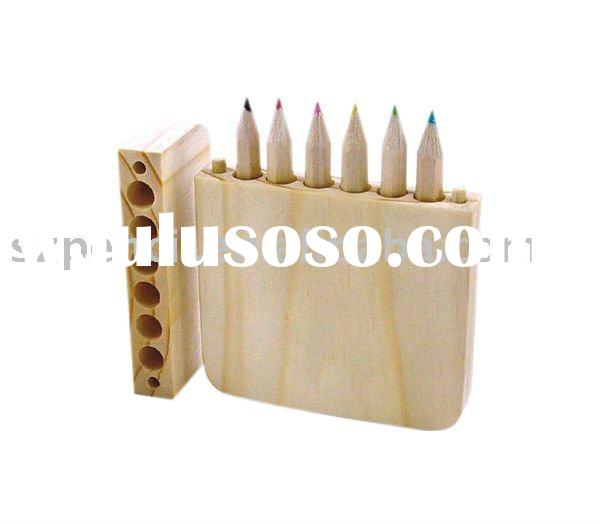 EN71 natural wood art drawing color pencil,stationery set