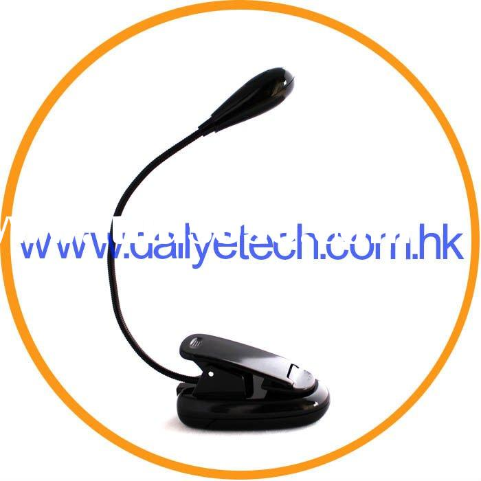 Flex Neck 2 LED Clip On Reading Lamp Book Light