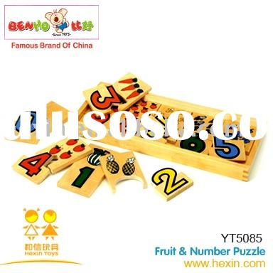 Fruit&Number Puzzle (puzzle,wooden puzzle,educational toy )