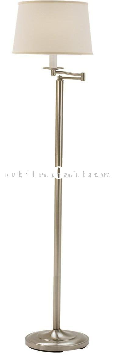 Metal Swing Arm Floor Lamp