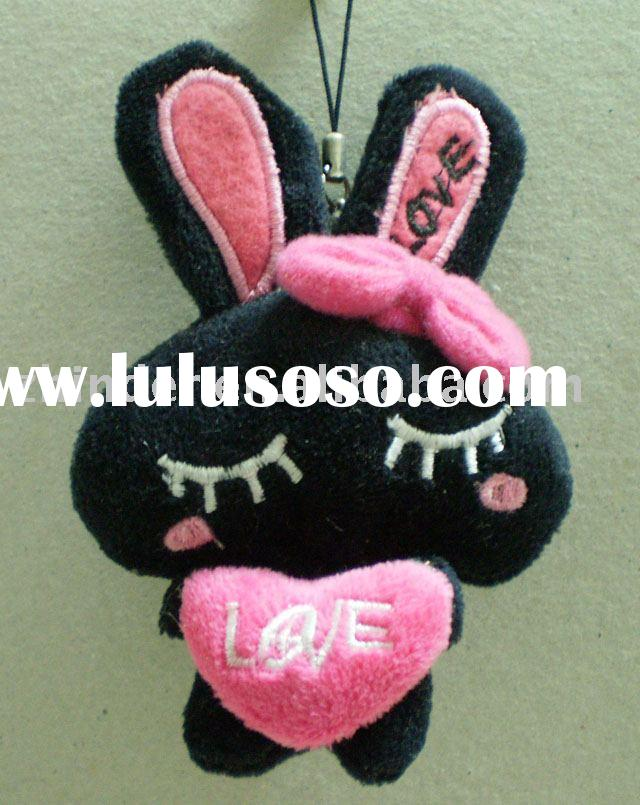Plush rabbit mobile phone pendant, plush rabbit charms, plush rabbit magenetic, plush rabbit toys, E