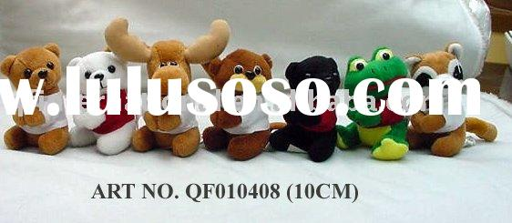 QF010408-1 PLUSH CLIP IN ALL TYPES OF ANIMALS (CUSTOM OEM DESIGNS CAN BE MADE)