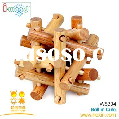 Wooden Cube (wooden toy,kid toy,IQ Puzzle)