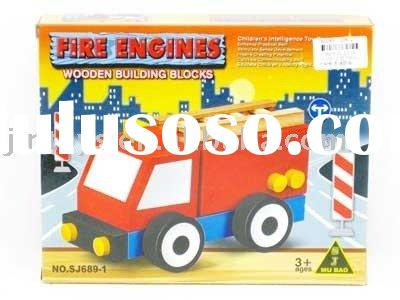 Wooden Fire Engine,wooden toys,wooden puzzle,educational toy,wooden game
