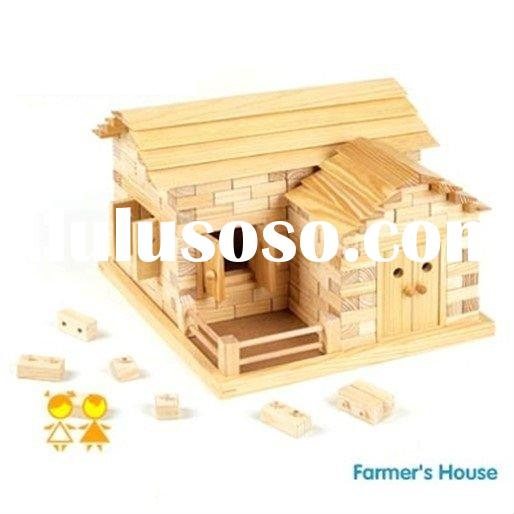 Wooden learning toy  Wooden educational toy wooden intelligence toy wooden toy farmer's hous