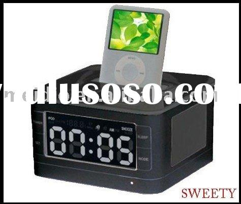 for ipod dock+remote control+LCD+alarm clock+CE ROHS
