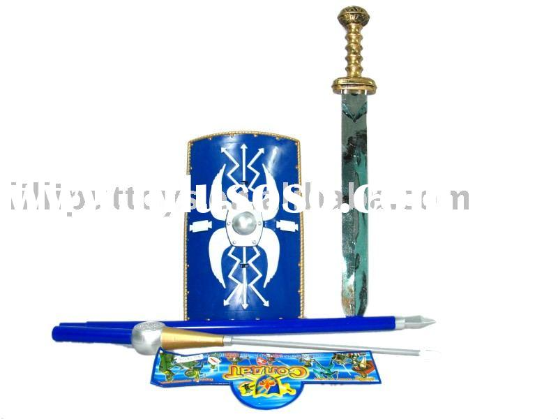 plastic shield,sword toy,spears