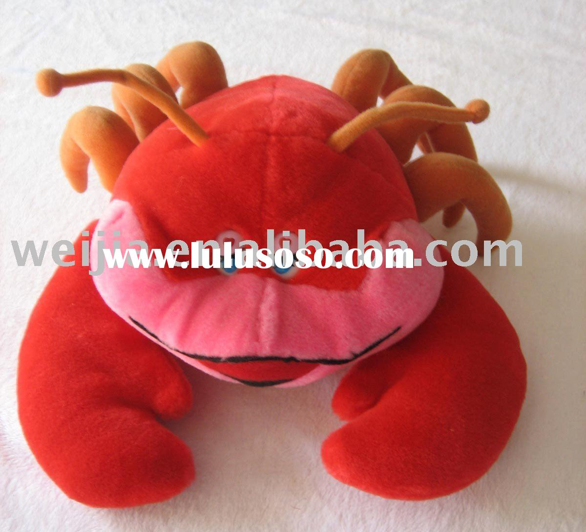 stuffed lobster/plush lobster/baby toy/lobster/toy