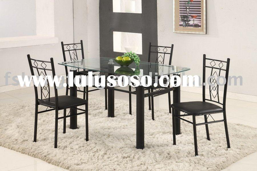 2010 oval glass top round dining table  D509 T112