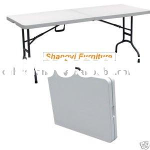 6 Foot  plastic banquet rectangle folding table